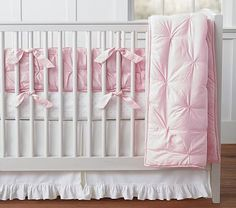 Audrey Bumper Set, Pink with Pin Dot Crib Fit