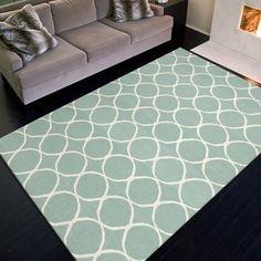 Handmade Flat Weave Geometric Pattern Blue Rug (9u0027 X 12u0027) | Overstock
