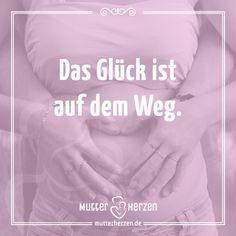 Die große Vorfreude. Mehr Sprüche auf: www.mutterherzen.de #schwangerschaft #geburt #schwanger #freude #glücklich #geschenk #mama #wunder