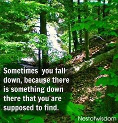 Sometimes you fall because