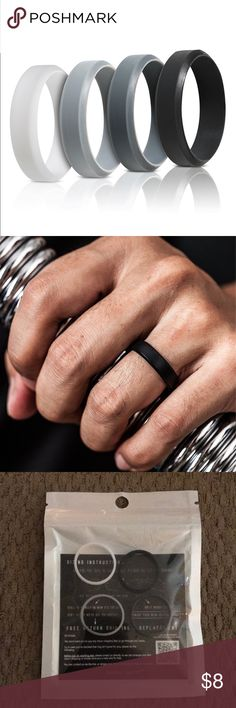 Saco Band Silicone Rings for Men (size 11) Saco Band Mens Silicone Wedding Bands - Rubber Wedding Rings Accessories