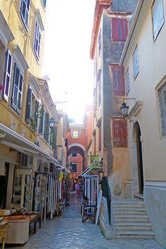 Old Town of Corfu, Corfu Island, Ionian Sea, Greece by...