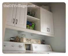 love the shelf - right over washer/dryer