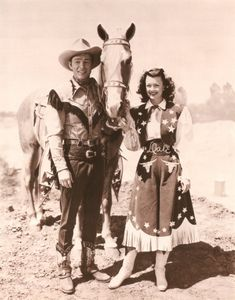 Roy Rogers and Dale Evans   my heros <3   i  wanted to grow up and be like them     bes