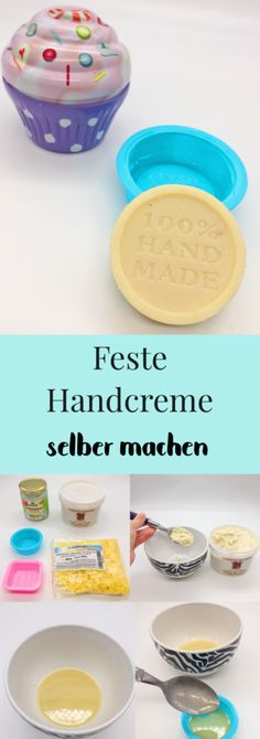 Make firm body lotion yourself with only three ingredients- Feste Bodylotion selber machen mit nur drei Zutaten Make bodylotion yourself – sweet DIY gifts with three ingredients - Shampoo Bar, Solid Shampoo, Lotion En Barre, Diy 2018, Diy Beauty Mask, Diy Gifts For Mom, Lotion Bars, Beauty Recipe, Natural Cosmetics
