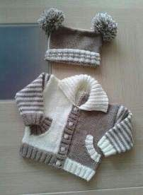 """Baby Knitting Patterns Sweter Too cute [ """"Fun color combo"""