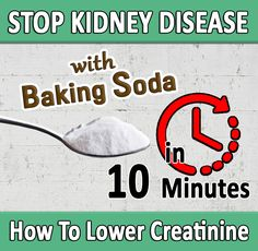 BAKING SODA is a true MIRACLE for people with Kidney Disease. #kidneyrepair Baking soda can make your body alkaline, can lower your potassium levels and  can even help patients STOP the progression of Chronic Kidney Disease and avoid the need for DIALYSIS. Chronic Kidney Disease, Dialysis, Baking Soda