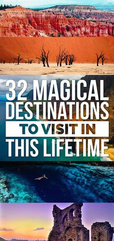 32 Magical Destinations To Visit In This Lifetime (scheduled via http://www.tailwindapp.com?utm_source=pinterest&utm_medium=twpin&utm_content=post117193163&utm_campaign=scheduler_attribution)