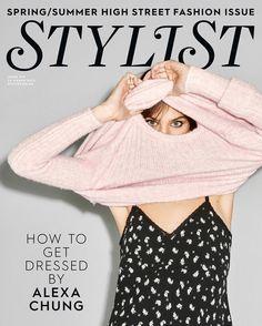 """Loving Alexa Chung @ChungAlexa on the cover of @StylistMagazine using Nails Inc @NailsInc. Shot by @BenRayner & Styled by @Fullerton_Fash.…"""