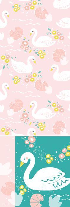 wendy kendall designs – freelance surface pattern designer » white swan