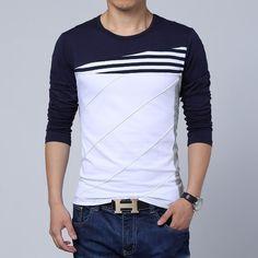 Contemporary Cross-Striped Spring T-Shirt – U R B A N S T O X