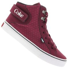 Tênis Cano Alto Coca-Cola Envy - Feminino                                                                                                                                                                                 Mais Casual Sneakers, High Top Sneakers, Shoes Sneakers, Baskets, Street Culture, Beautiful Shoes, Cute Shoes, Things To Buy, Fashion Shoes