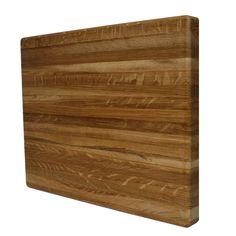 Kobi Blocks Premium Edge Grain Rectangle Butcher Block 1-inch Thick Cutting Board