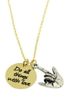 """Do Things With Love"" Necklace"
