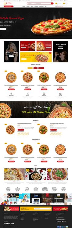 Fast And Fresh PrestaShop Food Delivery Theme Web Design, Tool Design, Design Ideas, Graphic Design, Ecommerce Website Design, Website Design Layout, Mise En Page Web, Restaurant Themes, Build Your Own Website
