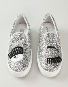 CHIARA FERRAGNI 'Flirting' Slip-on Skate Shoes | Buy ➜ http://shoespost.com/chiara-ferragni-flirting-slip-on-skate-shoe