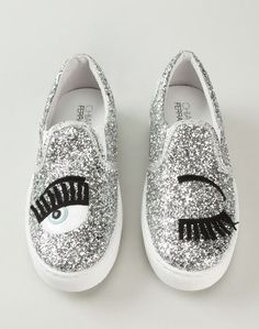 CHIARA FERRAGNI 'Flirting' Slip-on Skate Shoes | Buy ➜ http://shoespost.com/chiara-ferragni-flirting-slip-on-skate-shoe