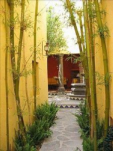 Courtyard, Fountain, San Miguel de Allende, Mexico