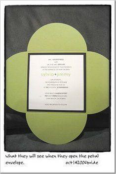 inside the wedding envitation