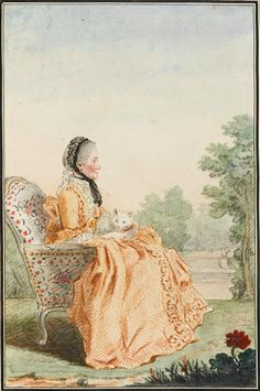Madame de Polignac, 1760 by Louis Carrogis Carmontelle (1717-1806), (Chantilly)
