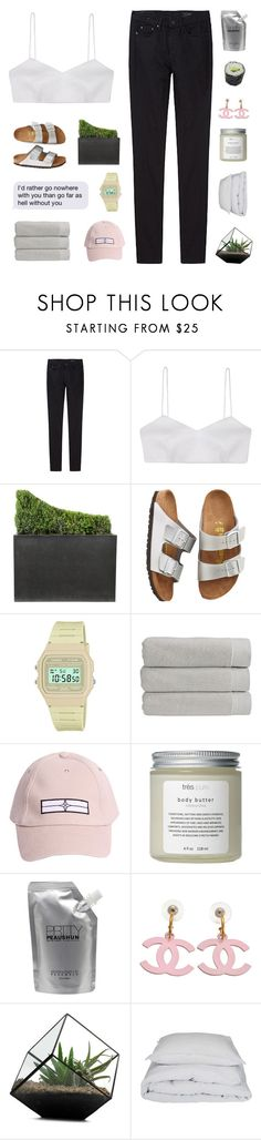 """""""♡ milk and honey // summer playlist"""" by hellevators ❤ liked on Polyvore featuring THEM ATELIER, Alice McCall, Jayson Home, Birkenstock, Casio, Christy, STONE ISLAND, Très Pure, Prtty Peaushun and By Nord"""