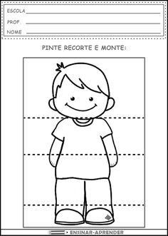 Head Shoulders Knees and Toes - Boy Senses Activities, Activities For Kids, Body Preschool, Learn Portuguese, Art Terms, Classroom Crafts, Preschool Worksheets, Super Powers, Small Groups
