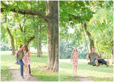 Kevin and Anna Photography Summer Wildflower Engagement Session at Shaker Village in Harrodsburg, KY. Kentucky Wedding Photographer, Sunset, Farm, Field, White Fence, White Dress with Red Flowers, Tree Swing. Kevin and Anna Photography www.kevinandannaweddings.com