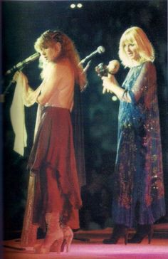 Stevie and Christine McVie ~ stage sisters ☆♥❤♥☆