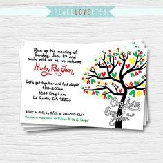 Bob Marley Baby Shower Invitation 5x7 Rasta by PeaceLoveEtsy