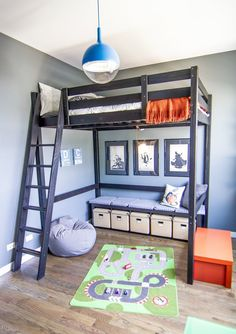 Loft bed from IKEA - Might be a good plan for Owen's room.  This would make better use of the space...