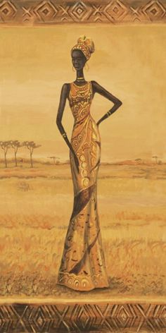 African Theme, African Girl, African American Art, African Beauty, African Women, African Fashion, Africa Drawing, Africa Painting, Africa Art