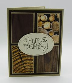 Tampin Up Better Together Wood Textures Masculine Birthday Card