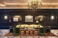 Inside the newly renovated Beekman Hotel in New York. Preserved New York hotel, original character and features. Discover the new Thompson Hotel The Beekman. Nyc Hotels, Downtown Hotels, New York Hotels, Best Hotels, Luxury Hotels, Luxury Travel, Charles & Ray Eames, Lower Manhattan, Manhattan Nyc