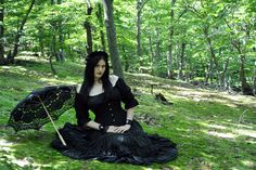 Me- NekromanCica  #goth  #gothic  #gothicgirl  # gothgirl  #forest  #nature