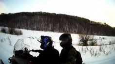 Снегоход Буран Ямаха, река Ока, Нижегородская область