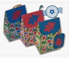 The Papercraft Post: Matisse-y Mini Gift Bags and Boxes