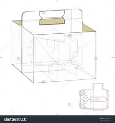 Carrier Box With Die Cut Template Stock Vector Illustration 349083437 : Shutterstock