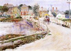 At Gloucester - Childe Hassam, 1890