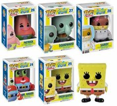 Amazon.com: Funko POP Spongebob Vinyl Figures Set of Five: Spongebob, Squidward, Patrick Star, Sandy, Mr. Krabs: Toys & Games