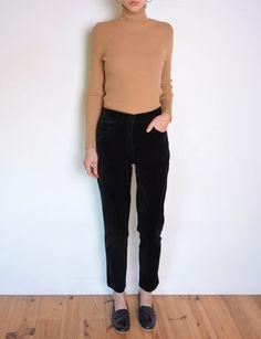 90's black velvet pants carrot pants grunge by WoodhouseStudios