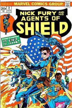 Shield v1 #2 marvel bronze age comic book cover art by Jim Steranko
