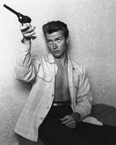 Clint Eastwood, 1956THE OLDEST ONE ON THIS WALL in career life.