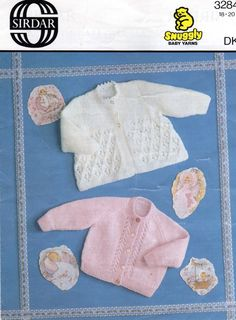 Sirdar 3284 baby matinee coats vintage baby by Ellisadine on Etsy, Knitting Wool, Vintage Knitting, Double Knitting, Baby Girl Patterns, Baby Knitting Patterns, Coat Patterns, Baby Cardigan, Baby Design, Knitted Hats