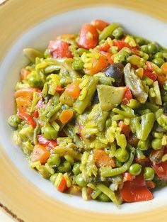 Dolci a go go: Light con gusto-Paella vegetariana Veg Recipes, Gourmet Recipes, Italian Recipes, Vegetarian Recipes, Cooking Recipes, Healthy Recipes, Vegetarian Paella, I Love Food, Good Food