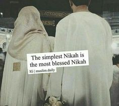 The Simplest Nikkah is the most blessed Nikah Muslim Couple Quotes, Muslim Love Quotes, Love In Islam, Beautiful Islamic Quotes, Islamic Inspirational Quotes, Romantic Love Quotes, Muslim Couples, Religious Quotes, Love Quotes For Him