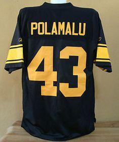 7745d4060 2007 Reebok on Field Polamalu Pittsburgh Steelers Throwback NFL Team Jersey  Sz L
