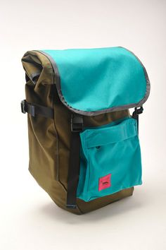 or these ones? (Olive and Teal Roll Top Panniers by Swift Industries, via Flickr)