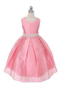 Girls Dress Style 314 - CORAL Satin and Organza Dress with Pearl Accents  This beautiful bridal satin and organza dress would make any child smile. This dress is delicately crafted with a gorgeous amount of pearl work that has been put on the waist.  http://www.flowergirldressforless.com/mm5/merchant.mvc?Screen=PROD&Product_Code=MB_314CO&Store_Code=Flower-Girl&Category_Code=Coral_Peaches_Orange