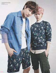 W Korea June Issue: Kai and Luhan Omg to hot good mix perfect photo!!!!