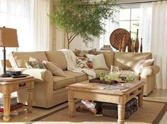 love the neutral couch.. not so much that it's a sectional though